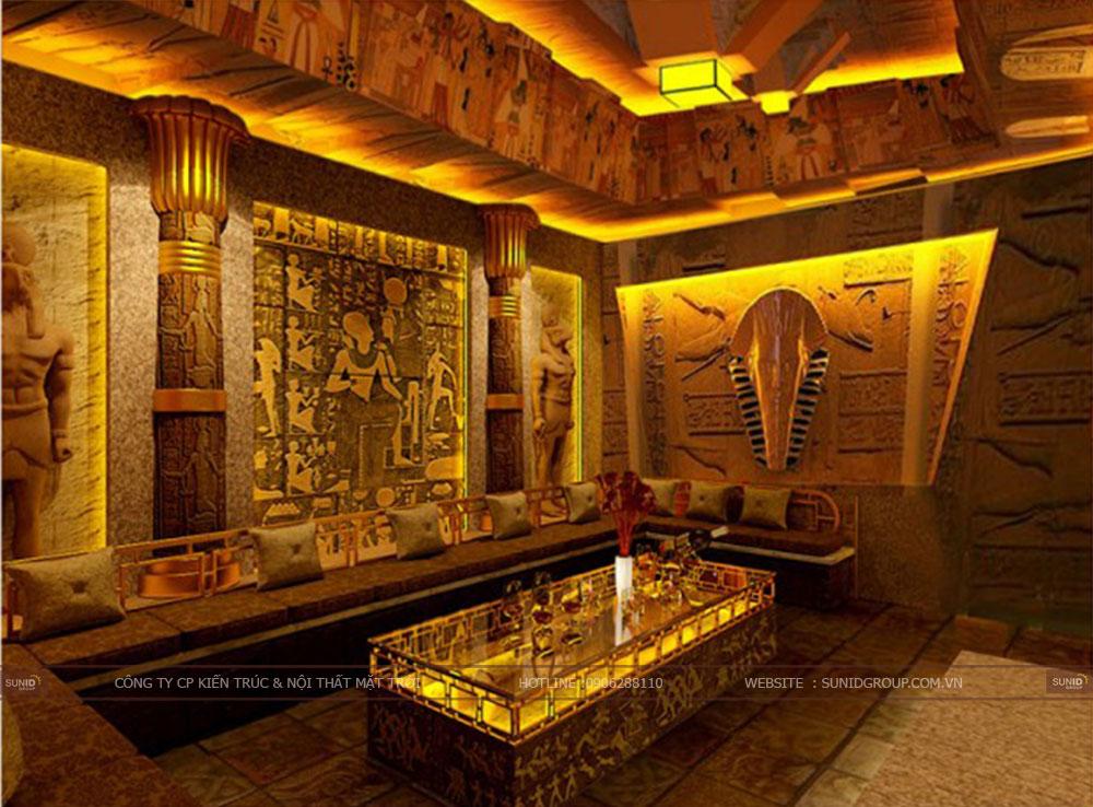 Thiết kế phòng hát karaoke theo phong cách Ai Cập