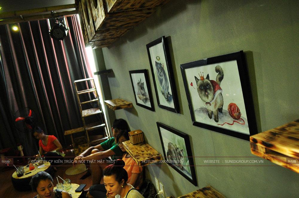 Thiết kế thi công quán cafe mèo tại Hà Nội