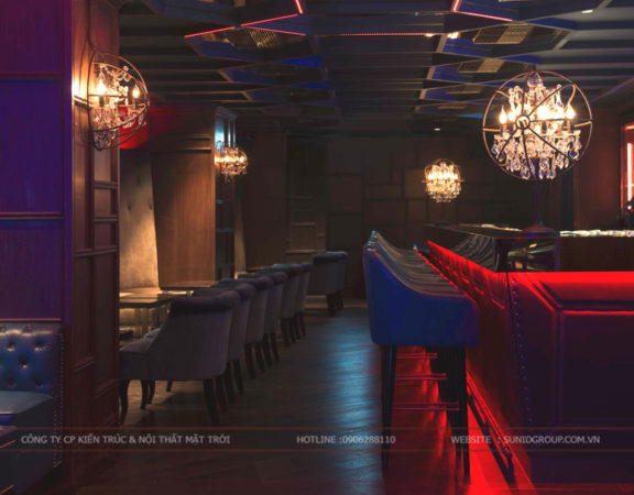 Thiết kế nội thất quán bar đẹp hiện đại