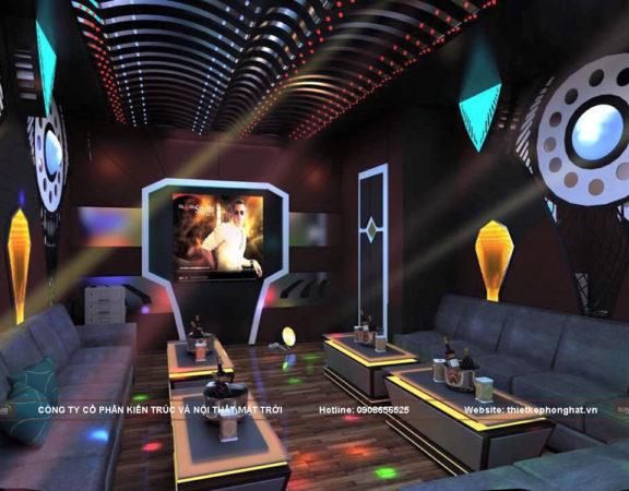 Thiết kế nội thất phòng hát Karaoke phong cách bar Minni