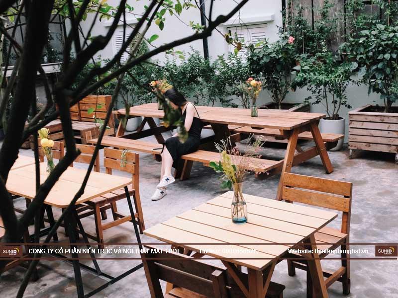 cafe cây xanh
