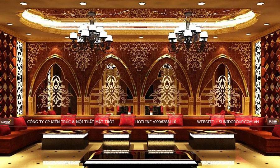 Thiết kế nội thất phòng karaoke mang phong cách cổ điển