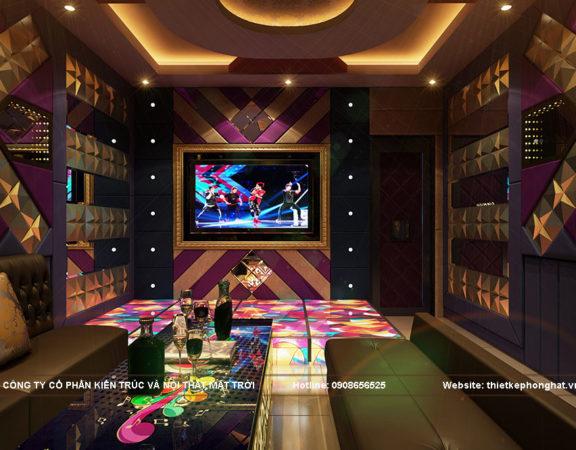 Thiết kế phòng karaoke diện tích nhỏ đẹp ấn tượng
