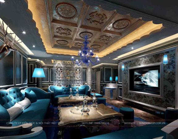 Thiết kế phòng hát karaoke sang trọng