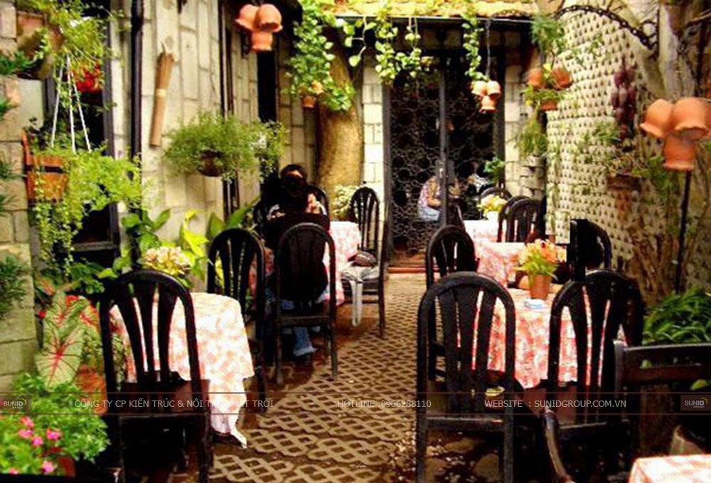 20 Mẫu thiết kế quán cafe sân vườn đẹp ấn tượng