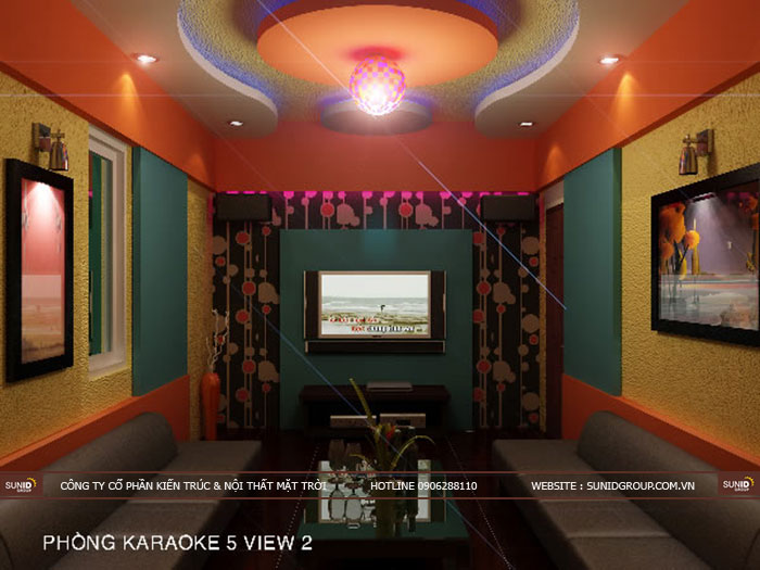 6 Mẫu thiết kế nội thất phòng Karaoke đẹp - giá rẻ