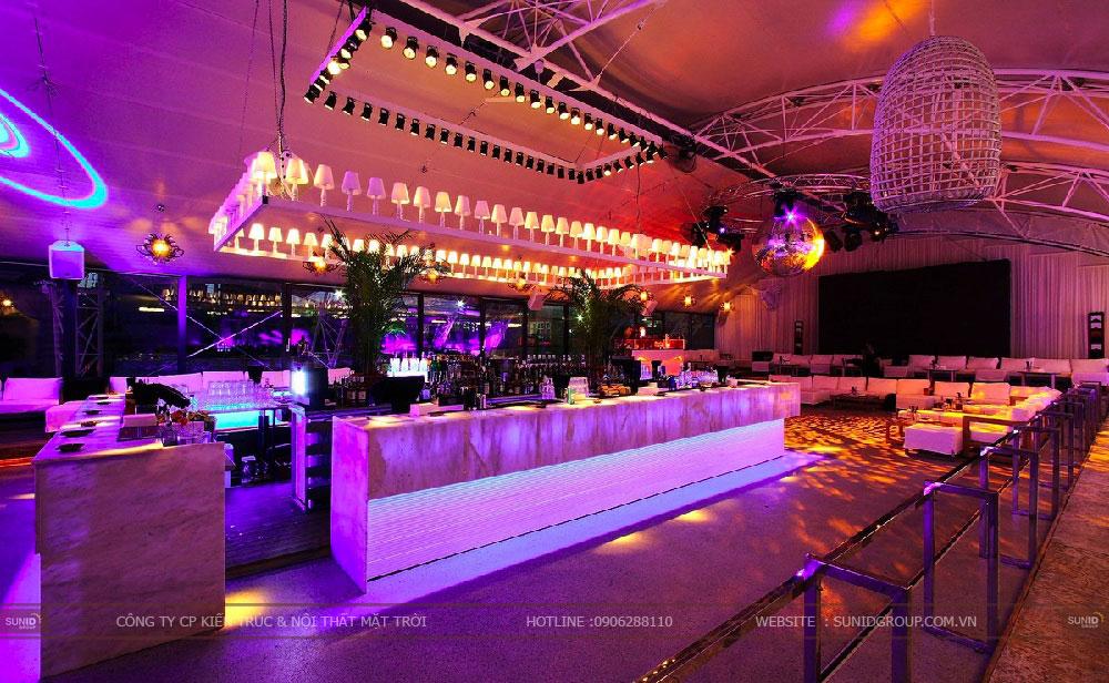 Thiết kế thi công quán bar không gian rộng đẹp ấn tượng