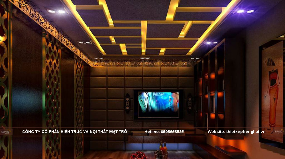 32 Mẫu thiết kế nội thất phòng hát karaoke tại gia