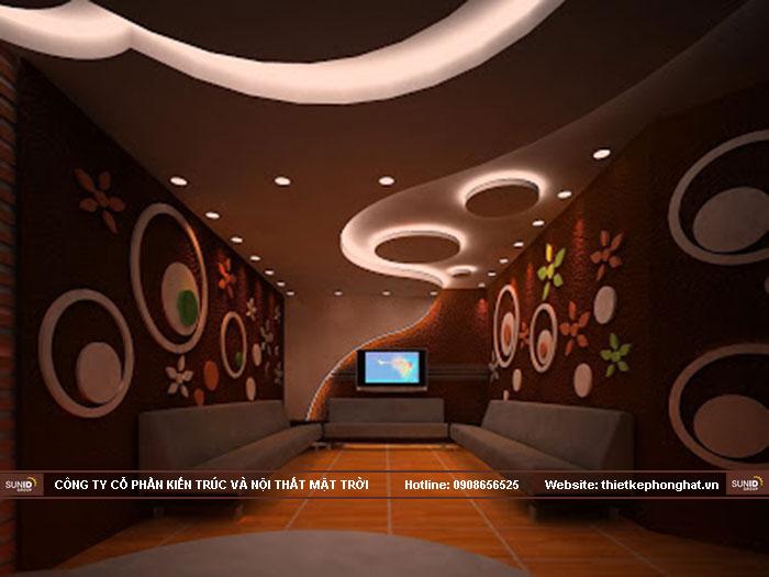 25 Mẫu thiết kế trần vách thạch cao phòng hát karaoke đẹp ấn tượng