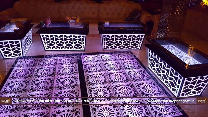 mẫu bàn kính phòng hát karaoke đẹp10