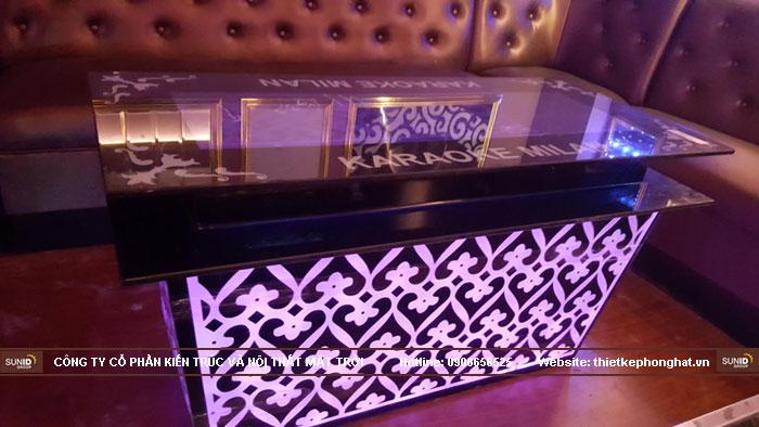 mẫu bàn kính phòng hát karaoke đẹp8