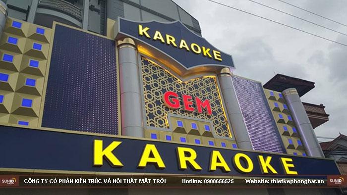 mẫu thiết kế mặt tiền quán karaoke15