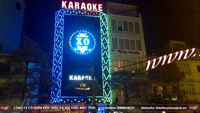 mẫu thiết kế mặt tiền quán karaoke3