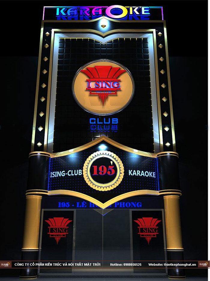 thiết kế mặt tiền quán karaoke đẹp mắt25