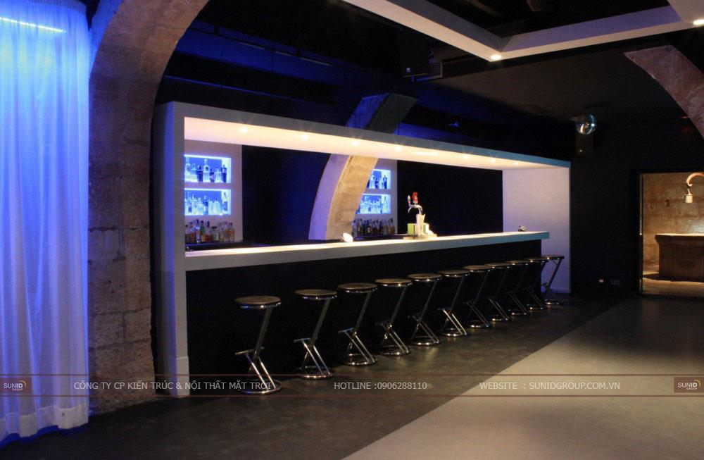 Thiết kế thi công nội thất quán bar đẹp thu hút khách hàng