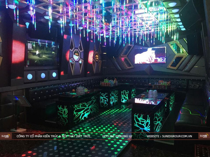 Thi công nội thất phòng karaoke đẹp - giá rẻ