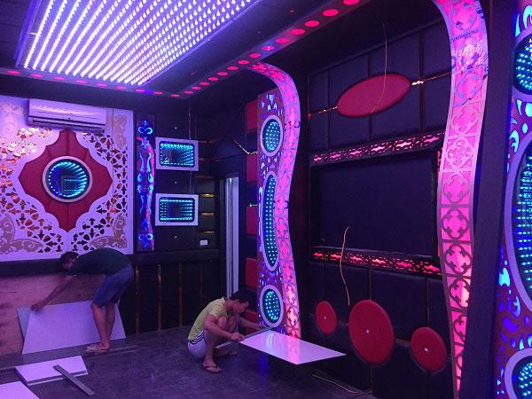 thi công phòng hát karaoke đẹp hải dương9