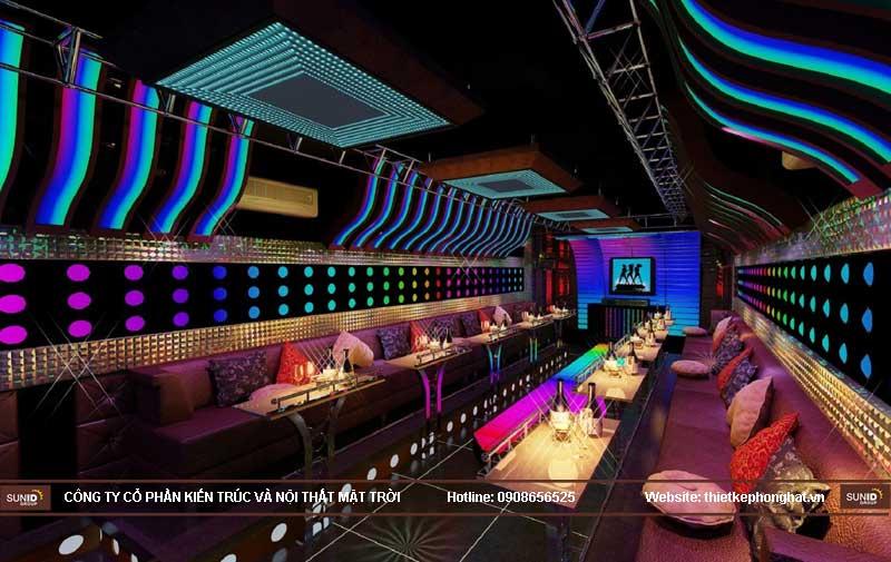 thiết kế phòng karaoke vip led