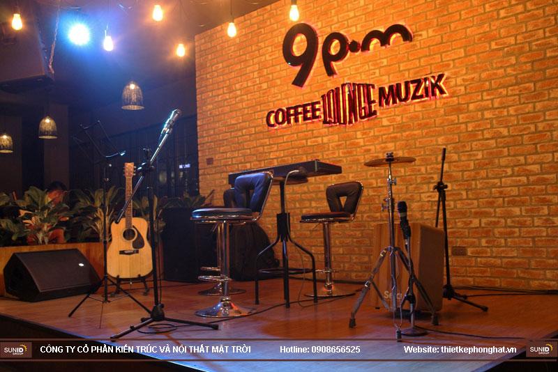 thiết kế quán cafe ca nhạc xu hướng hiện đại3
