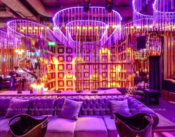 Thiết kế thi công nội thất, ngoại thất quán bar hiện đại