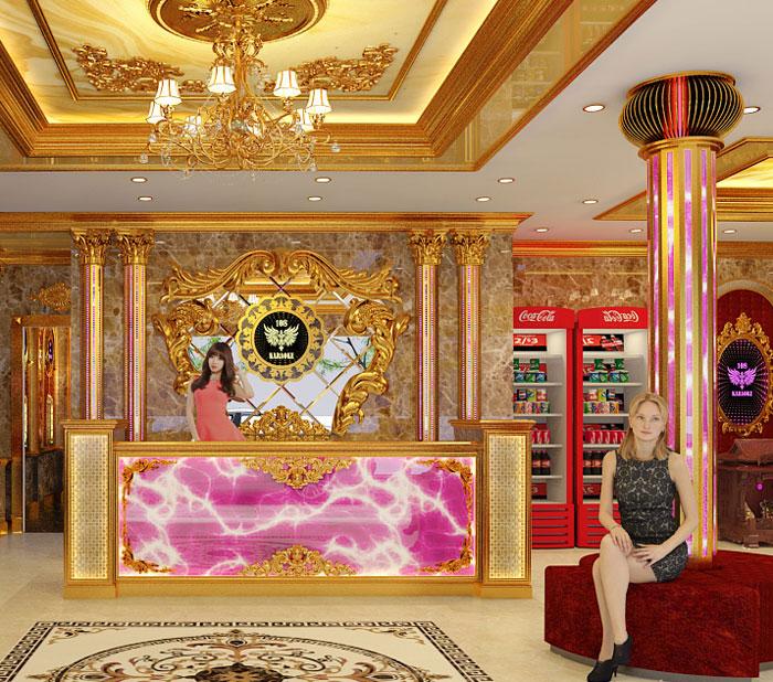 12 mẫu thiết kế quầy lễ tân sảnh chờ karaoke đẹp ấn tượng1