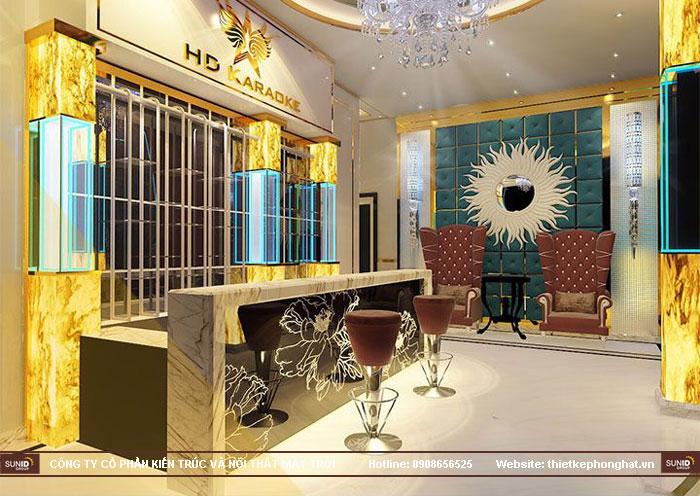 12 mẫu thiết kế quầy lễ tân sảnh chờ karaoke đẹp ấn tượng4