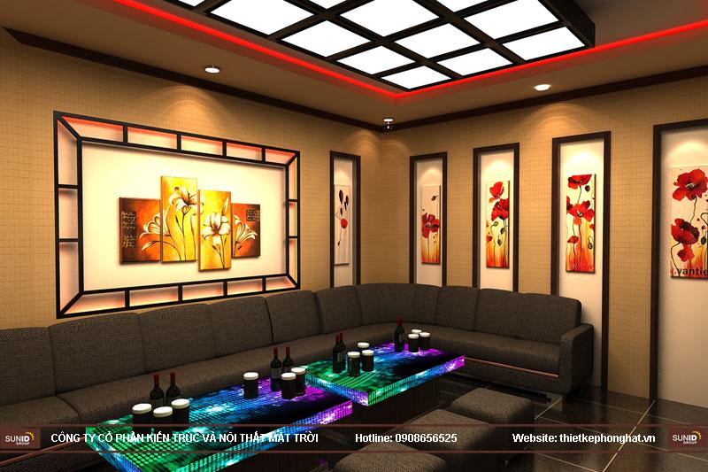 mẫu thiết kế phòng karaoke đẹp lung linh10
