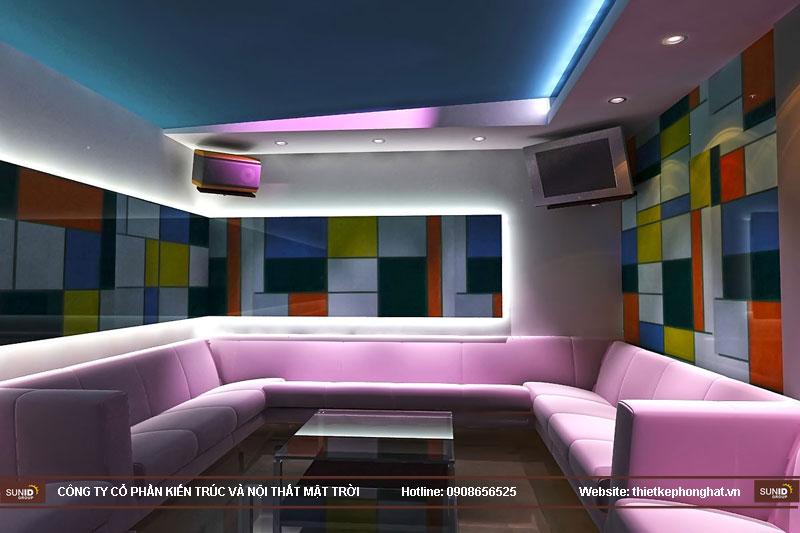 mẫu thiết kế phòng karaoke đẹp lung linh4