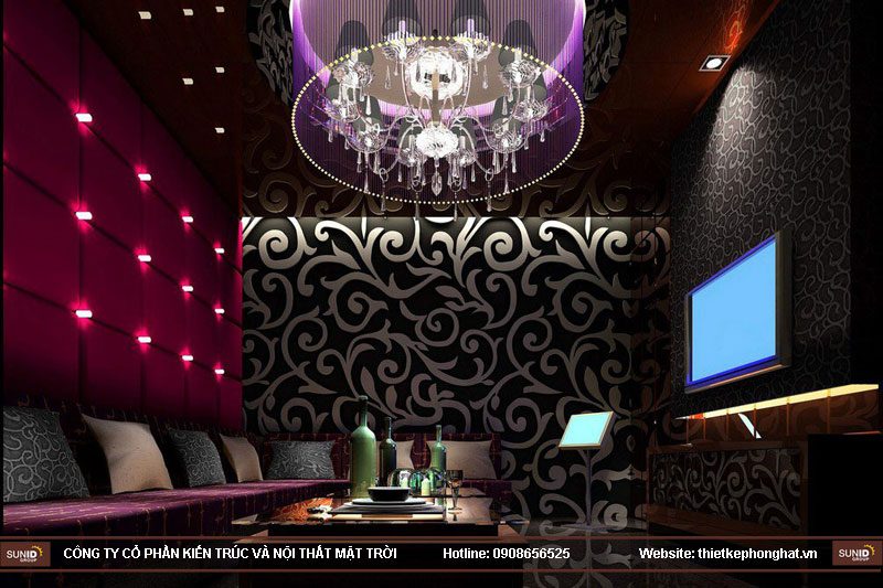 mẫu thiết kế phòng karaoke đẹp lung linh7