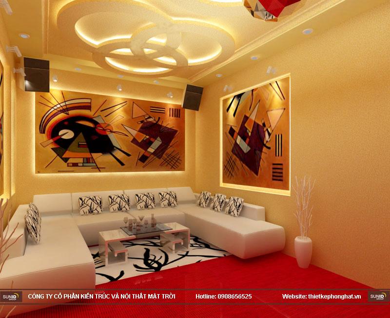 mẫu thiết kế phòng karaoke đẹp lung linh8