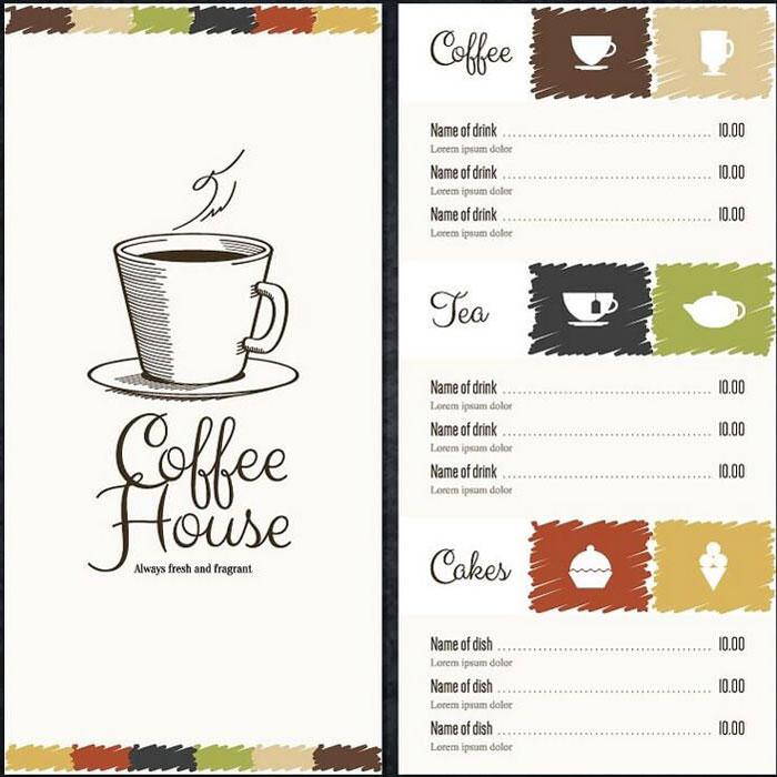 menu cafe toi gian