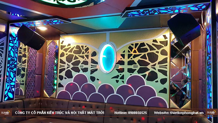 thi công phòng hát karaoke ruby thai nguyen10