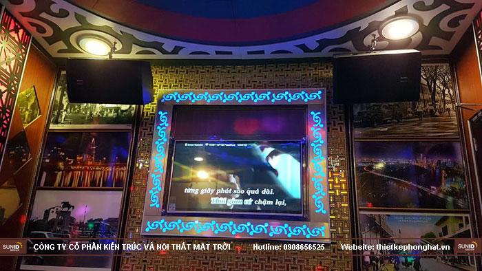 thi công phòng hát karaoke ruby thai nguyen11