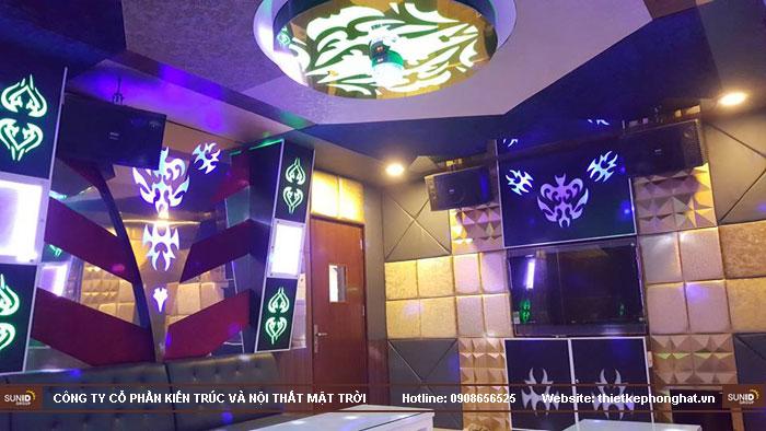 thi công phòng hát karaoke ruby thai nguyen13