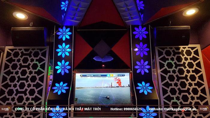 thi công phòng hát karaoke ruby thai nguyen2