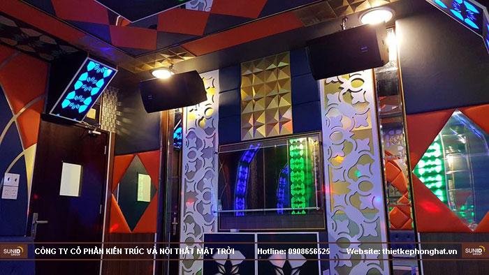 thi công phòng hát karaoke ruby thai nguyen3