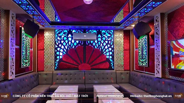 thi công phòng hát karaoke ruby thai nguyen4