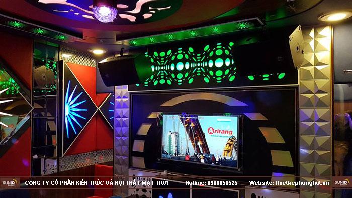 thi công phòng hát karaoke ruby thai nguyen6