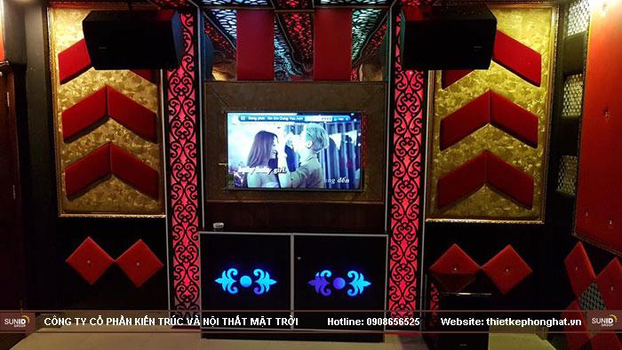 thi công phòng hát karaoke ruby thai nguyen9