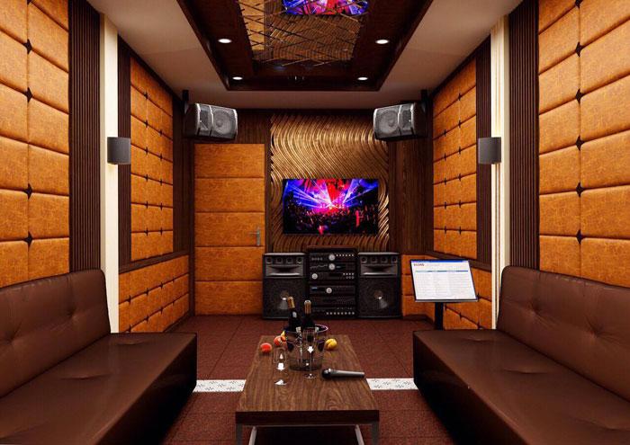 thiết kế thi công phòng karaoke gia đình1