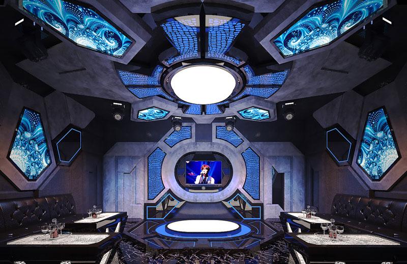 thiết kế phòng karaoke không gian3