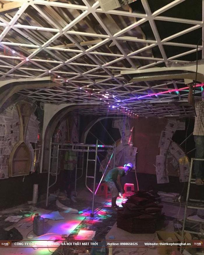 thi công trang trí nội thất karaoke thái dương7