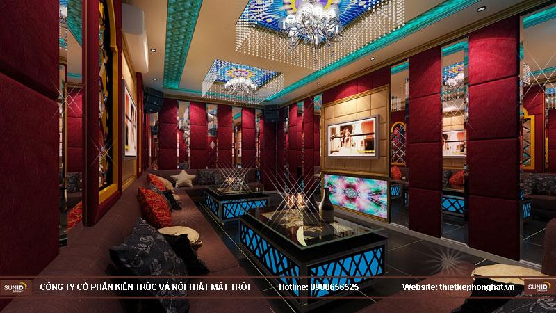 thiết kế phòng karaoke đơn giản sang trọng 1
