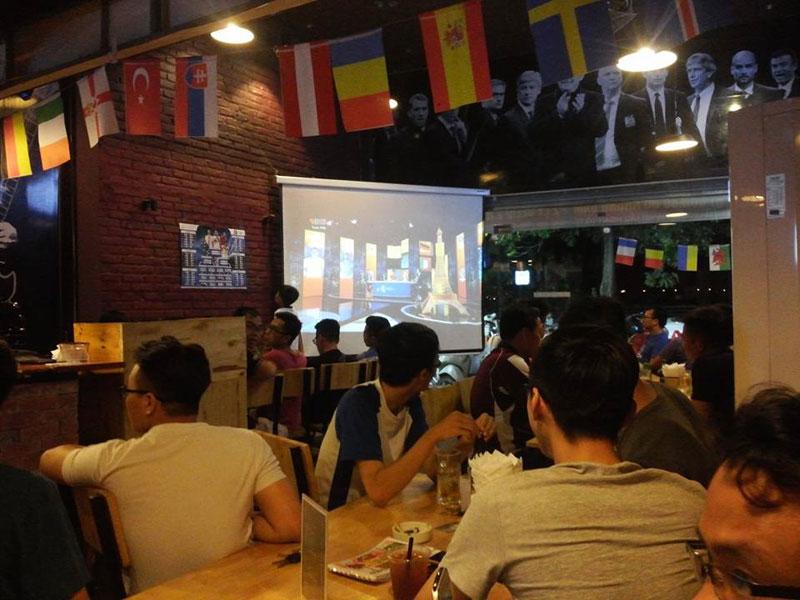 thiết kế quán cafe bóng đá3