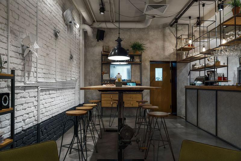phong cách cafe industrial công nghiệp