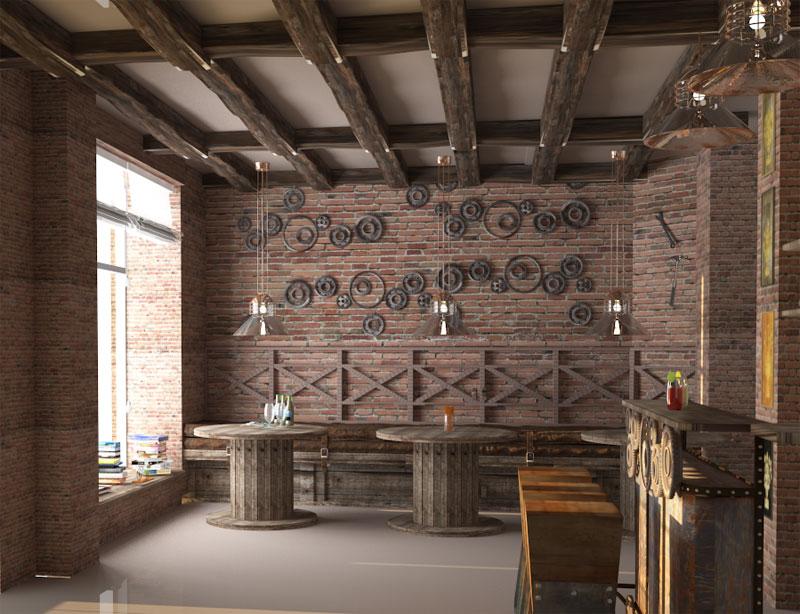 phong cách cafe industrial công nghiệp1