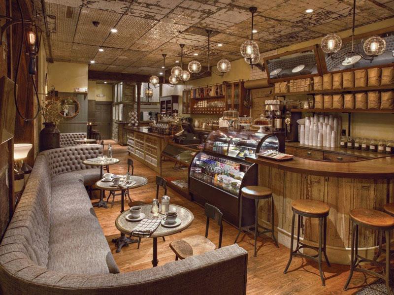 phong cách cafe rustic2