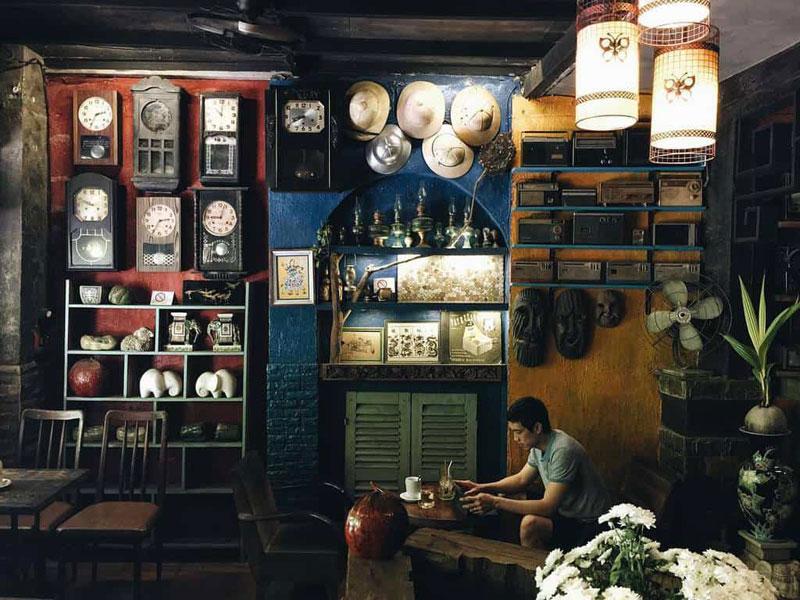 phong cách cafe vintage cổ điển