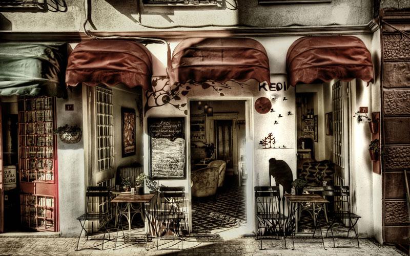 phong cách cafe vintage cổ điển2