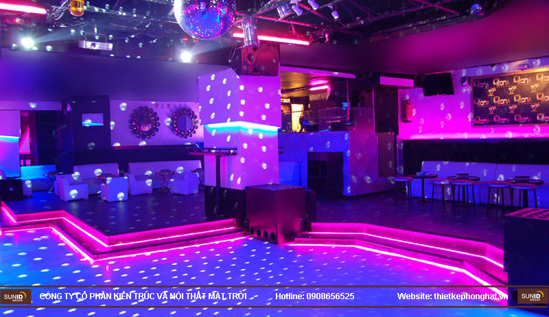 thiết kế thi công quán bar qzona vip10